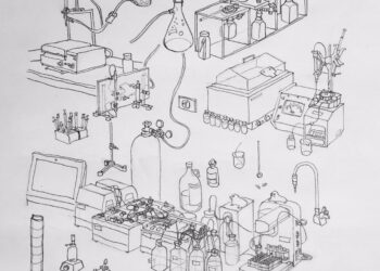 Sketch of laboratory instruments