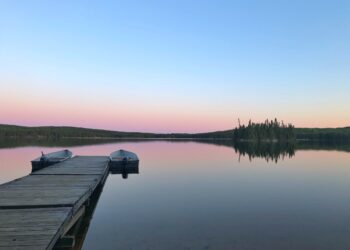 Lake 240 in the evening by Heather Hinam
