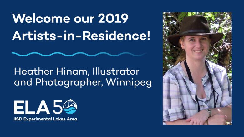 IISD-ELA welcomes Heather Hinam as 2019 Artist-in-Residence