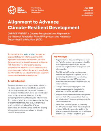 Alignment to Advance Climate-Resilient Development: Overview Brief 3