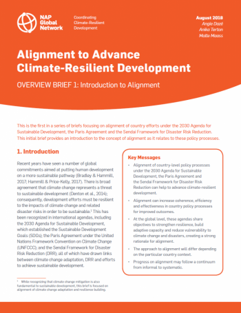 Alignment to Advance Climate-Resilient Development: Overview Brief 1 Introduction to Alignment