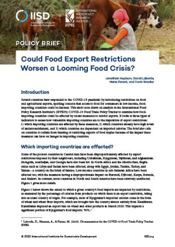 Could Food Export Restrictions Worsen a Looming Food Crisis?