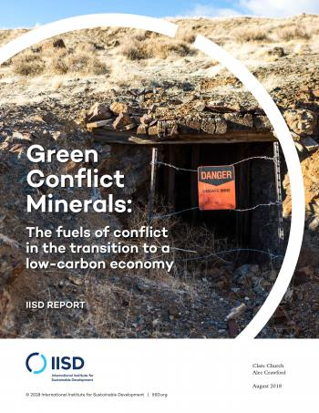 Green Conflict Minerals: The fuels of conflict in the transition to a low-carbon economy