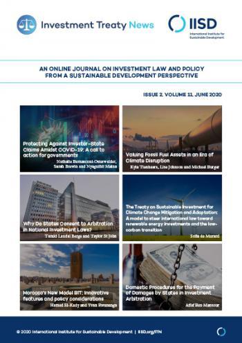 Investment Treaty News (ITN), Volume 11, Issue 2, June 2020
