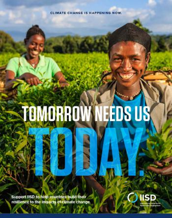 Tomorrow Needs Us Today: Resilience (brochure)