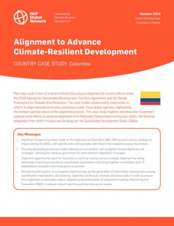 Alignment to Advance Climate-Resilient Development | Country Case Study: Colombia