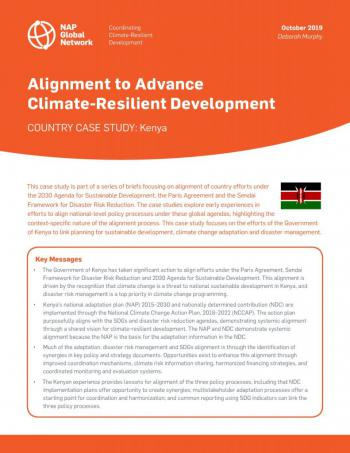 Alignment to Advance Climate-Resilient Development | Country Case Study: Kenya