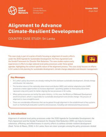 Alignment to Advance Climate-Resilient Development | Country Case Study: Sri Lanka