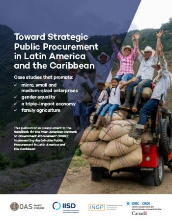 Toward Strategic Public Procurement in Latin America and the Caribbean