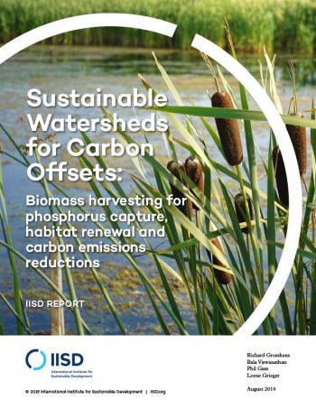 Sustainable Watersheds for Carbon Offsets: Biomass harvesting for phosphorus capture, habitat renewal and carbon emissions reductions