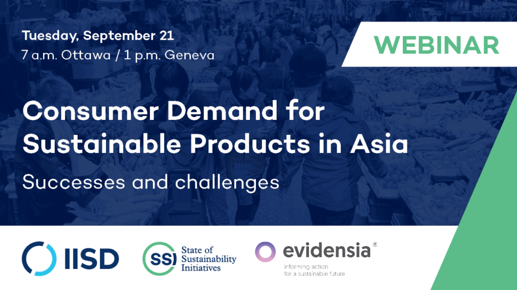 Consumer demand for sustainable products webinar